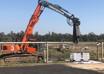 Dismantling of pipework in Hopeland, QLD