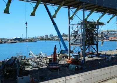 GrainCorp Ship Loader Demolition Works Overall Site View