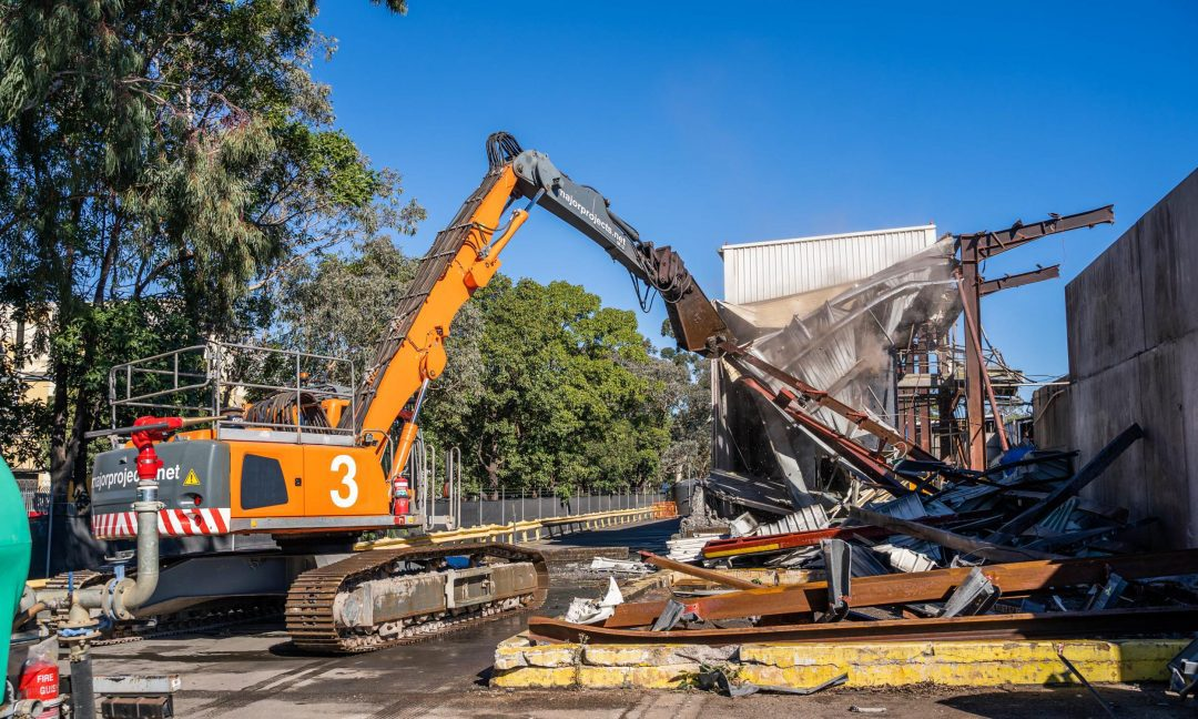 Battery Recycling Plant Demolition